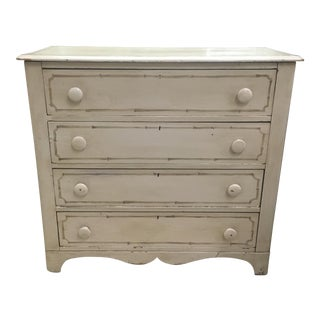 Antique Painted Faux Bamboo Chest of Drawers, 1880s