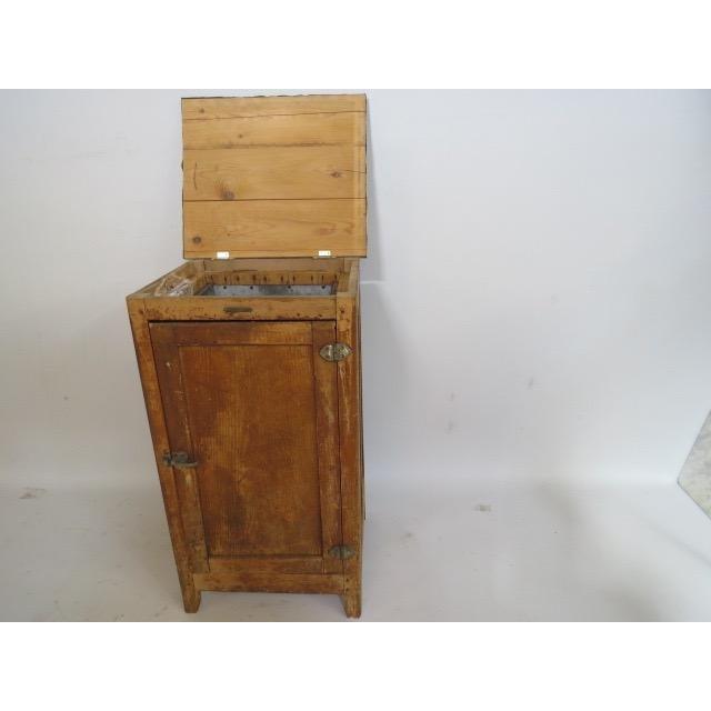 Wood Vintage 1920s Oak Ice Box Refrigerator For Sale - Image 7 of 11