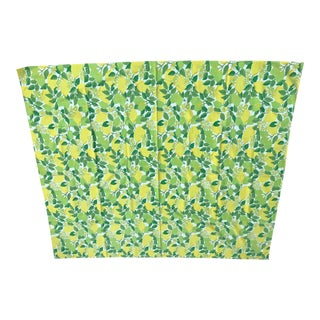 Mid Century Lemon and Lime Tablecloth For Sale