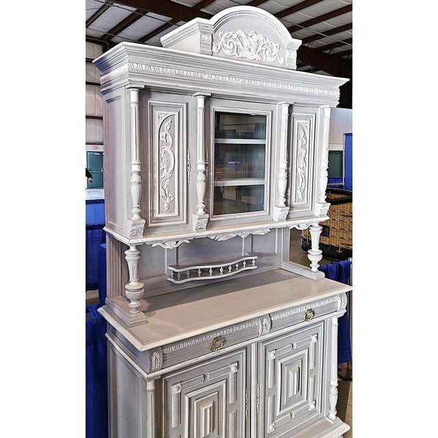 Antique French Painted Hutch For Sale - Image 11 of 11