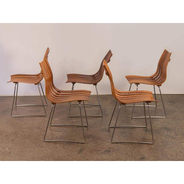 Hove Mobler Hans Brattrud Scandia Dining Chairs - Set of 5 For Sale - Image 4 of 12