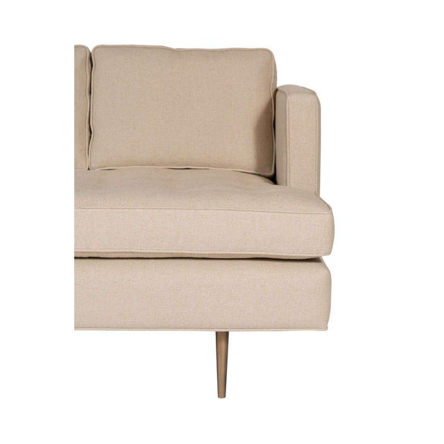 2000s Customizable Brown Tufted Sofa For Sale - Image 5 of 6