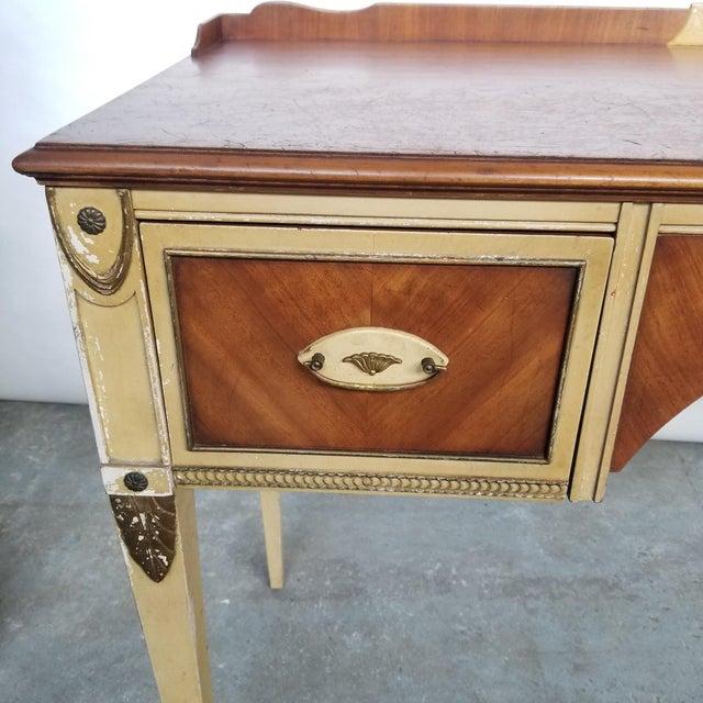 Wood Antique Flint & Horner French Deco Writing Desk/Vanity For Sale - Image 7 of 13