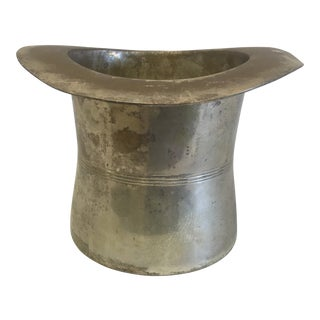 Silver Plate Top Hat Ice Bucket