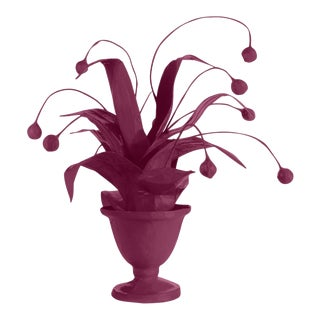 Stray Dog Designs for Chairish Crunchberry Faux Plant, Purple For Sale