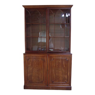 1870 Tradiitonal Mahogany Storage Desk For Sale