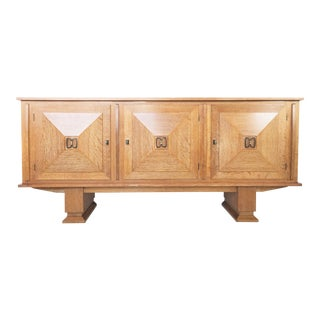 Exceptional Cerused Oak Sideboard Attributed to Charles Dudouyt For Sale