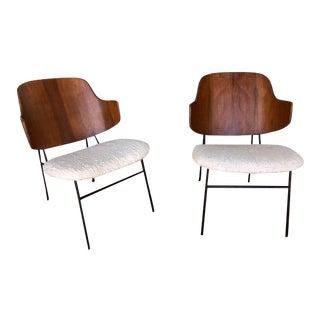 1950s Vintage Danish Modern Ib Kofod Larsen Penguin Chairs- A Pair For Sale
