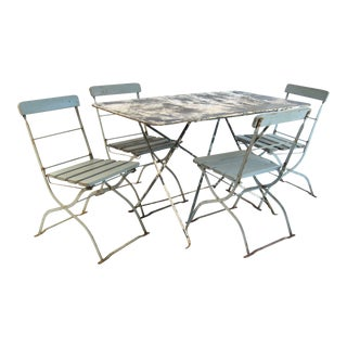 Antique French Bistro Dining Set For Sale