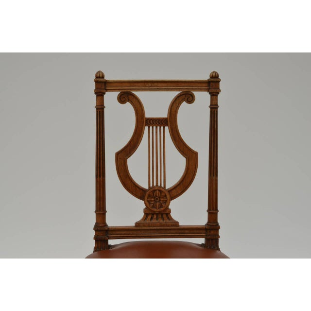 1940s Elegant Neoclassical Side Chair by Maison Jansen For Sale - Image 5 of 7