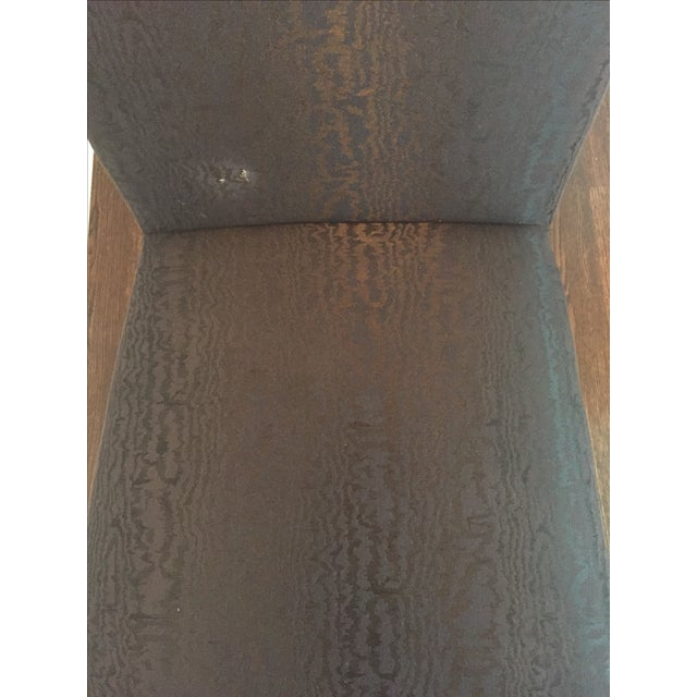 Vintage Black Upholstered Parson Chairs - A Pair - Image 7 of 7