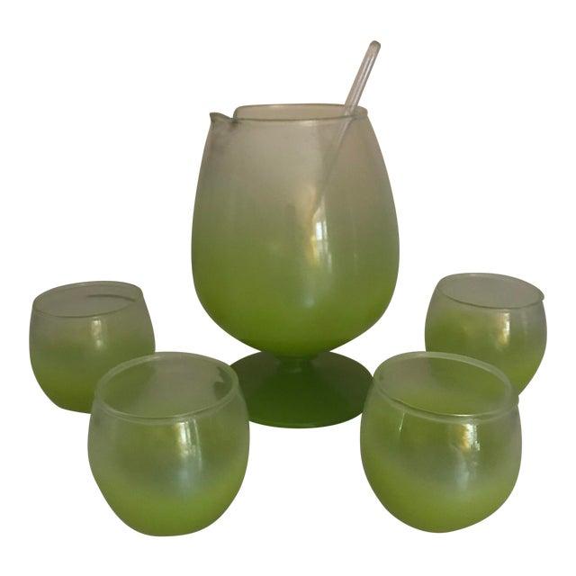 Blendo Cocktail Pitcher & Glasses - Set of 5 For Sale