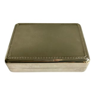 Silverplate Box With Blue Interior