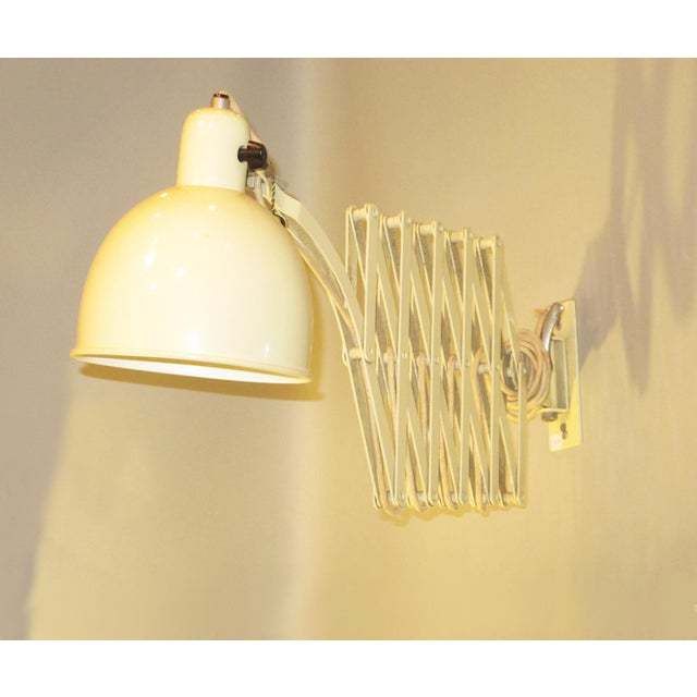Off-white Christian Dell for Kaiser-Idell Scissor Wall Lamp Sconce For Sale - Image 8 of 11