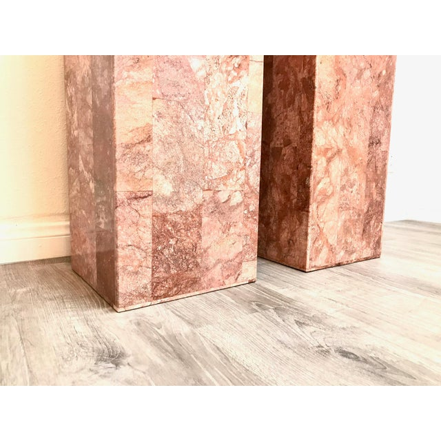 Vintage Tessellated Regency Marble Pedestals - a Pair For Sale - Image 10 of 11