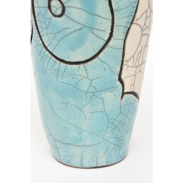 Vintage Raku Ceramic Nude Vase, Signed For Sale - Image 4 of 11