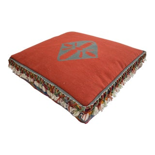Turkish Hand Woven Floor Cushion Cover - 30″ X 30″ X 6″ For Sale