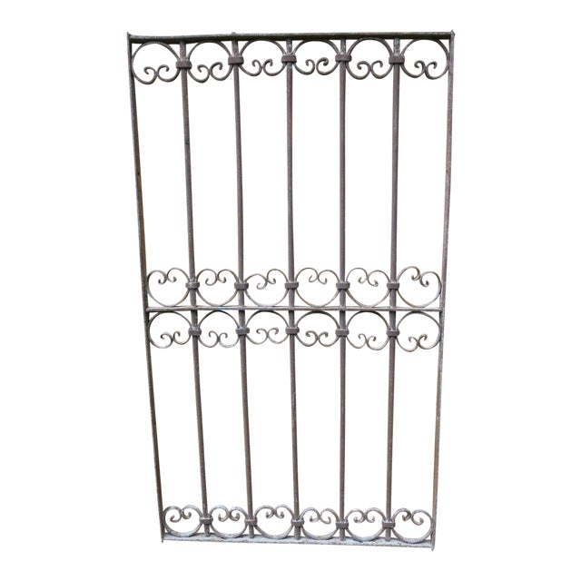Antique Victorian Iron Gate Window Garden Fence Architectural Salvage - Image 1 of 6