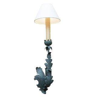 Green Iron Sconce For Sale