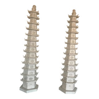 Vintage Tony Duquette Lighted Pagodas - a Pair For Sale