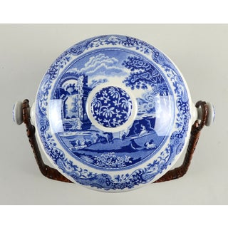Spode Blue Italian 200 Anniversary Biscuit Barrel & Lid Preview