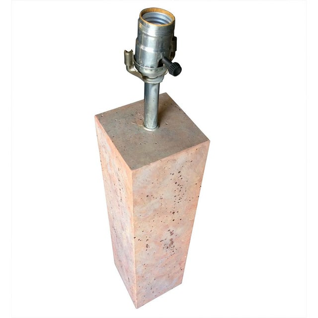 Modernist Stone Composite Lamp - Image 5 of 5