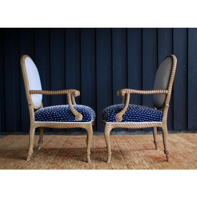 Newly Upholstered Rope & Tassel Armchairs, a Pair For Sale In Dallas - Image 6 of 12