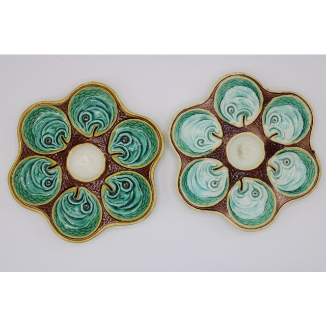Antique Wedgewood Majolica Ceramic Oyster Plates For Sale - Image 12 of 12