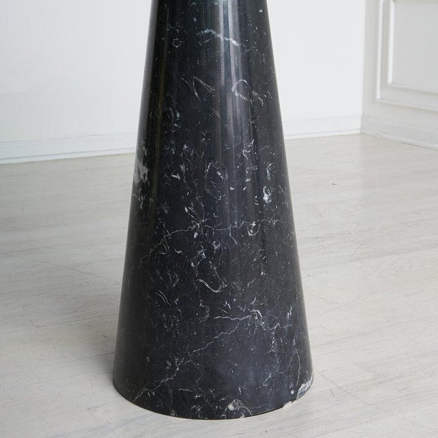 Nero Marquina Marble Dining Table With Glass Top by Angelo Mangiarotti For Sale In Chicago - Image 6 of 9