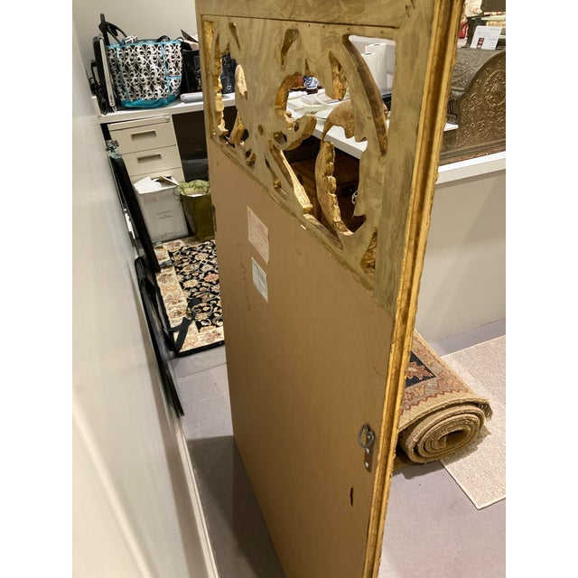 Large Vintage 1940s Plume-Top Hollywood Regency Mirror For Sale In Detroit - Image 6 of 10