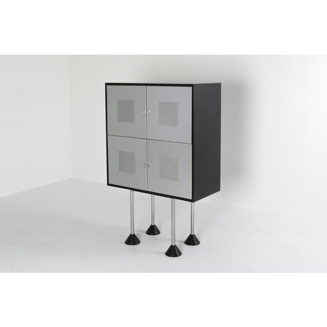 Memphis inspired 'Magic' cabinet by Gerard Van Den Berg for Pastoe, The Netherlands, 1980s. Original and rare piece of...