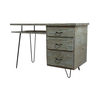Vintage Mid-Century Modern Writing Desk With HairPin Legs For Sale