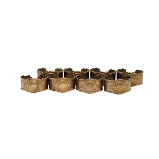 Vintage Brass Napkin Rings - Set of 8 For Sale