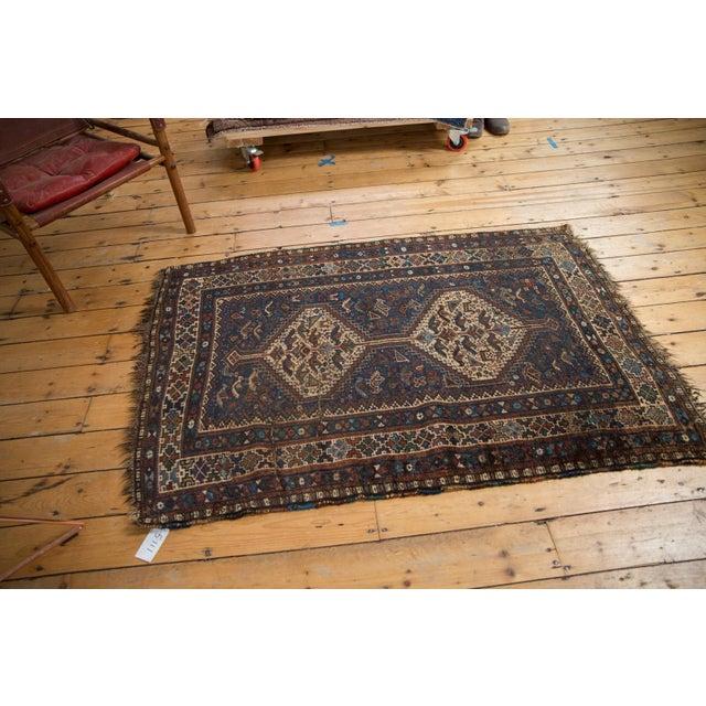 "Vintage Qashqai Rug - 3'8"" x 5'6"" For Sale - Image 4 of 13"