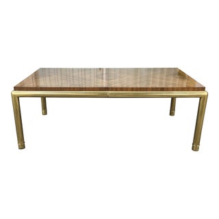 Vintage Brass & Walnut Mastercraft Dining Table