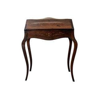 Antique French Wood Desk For Sale