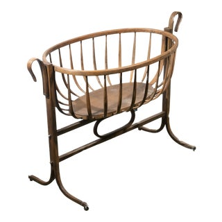 20th Century Thonet Style Bentwood Bassinet For Sale