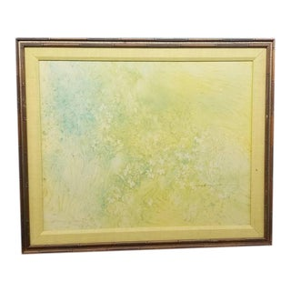 """Signed Gloria Rosenthal """"Flora Mist"""" Large Abstract Oil Painting on Canvas For Sale"""