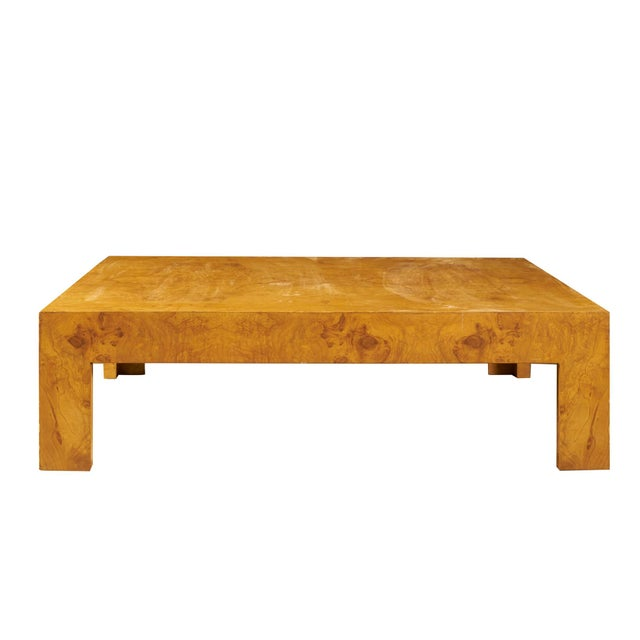 Wood Monumental Milo Baughman Burlwood Coffee Table For Sale - Image 7 of 10