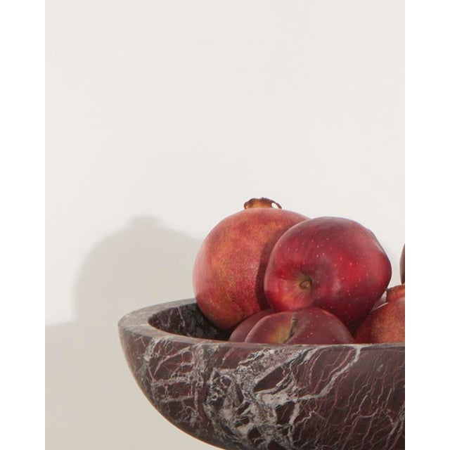 Fruit Bowl in Black Marble by Karen Chekerdjian, Made in Italy For Sale - Image 10 of 10