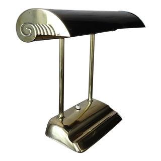 1940s Art Deco Brass Desk Lamp For Sale