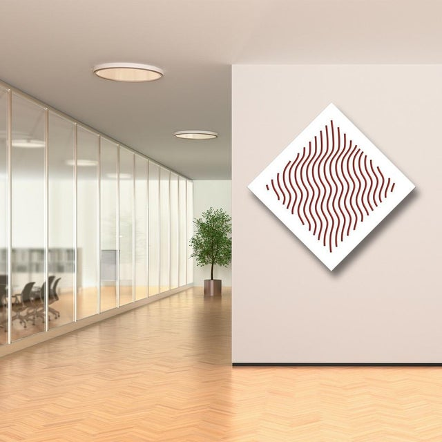 Pop Art Chuck Krause Waves (Red), original three dimensional geometric design wall relief 2020 For Sale - Image 3 of 4