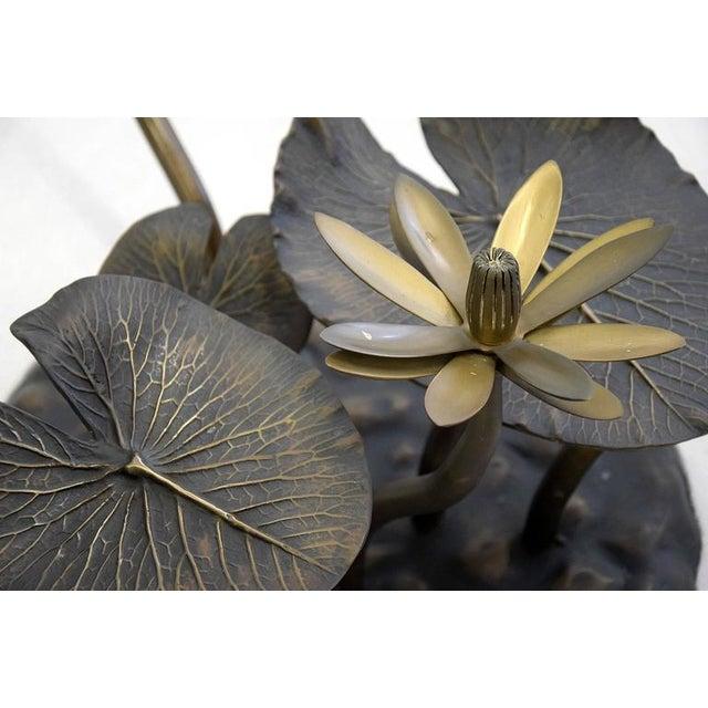 Stylish Mid-Century Modern Lotus Coffee Table - Image 3 of 11