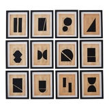 Image of Josh Young Design House Noir Géométrique Collection Paintings, 12 Pieces For Sale