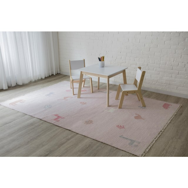 """Erin Gates by Momeni Thompson Porter Pink Hand Woven Wool Area Rug - 3'6"""" X 5'6"""" For Sale In Atlanta - Image 6 of 7"""