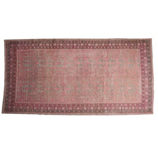 "Vintage Distressed Khotan Rug Runner - 6'4"" X 12'5"" For Sale"