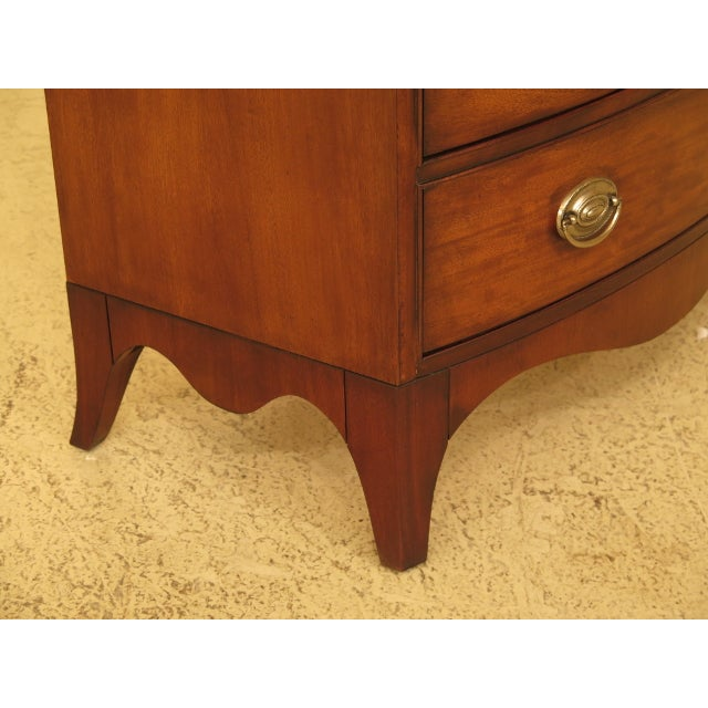 Vintage Ethan Allen Federal Style Bow Front Mahogany Low Chest For Sale In Philadelphia - Image 6 of 13