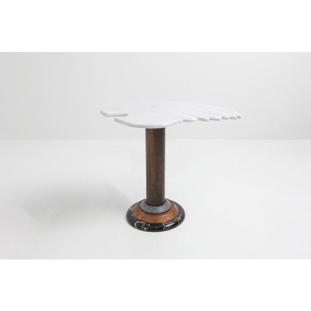 Marble Angel Wing Side Table For Sale - Image 6 of 9