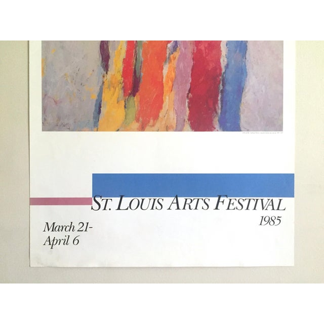 Contemporary Arthur Osver Vintage 1985 Abstract Expressionist Lithograph Print St. Louis Arts Festival Exhibition Poster For Sale - Image 3 of 13