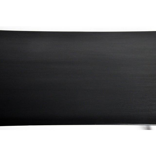 Black Mid Century Modern Painted Black Teakwood Coffee Table For Sale - Image 8 of 13